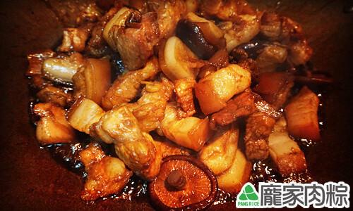 龐家肉粽大塊紅燒三層爌肉教學