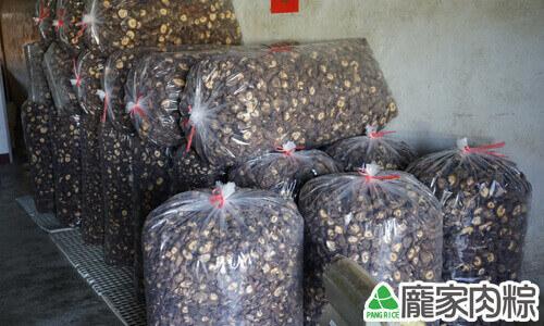 整袋烘乾完成的乾燥香菇